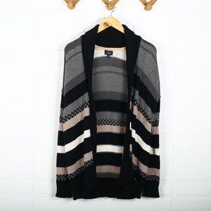 American Eagle Cotton Multi Stripe Knit Cardigan